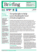 Ten principles to help assess funding for local climate adaptation