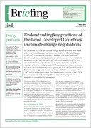 Understanding key positions of the Least Developed Countries in climate change negotiations