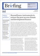 Beyond loans: instruments to ensure the poor access climate and development finance