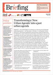 Cover of IIED briefing