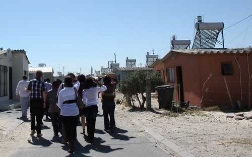 Southern African parliamentarians on a fact finding mission to the Kuyasa Clean Development Mechanism Project in Khayelitsha, Cape Town, South Africa.