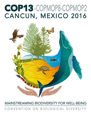 The logo of the Convention on Biological Diversity Conference of the Parties
