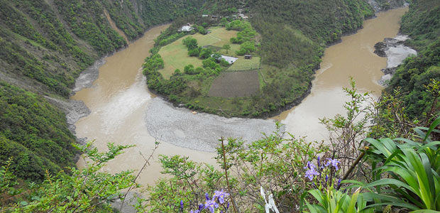 First bend of the Nu River in Yunnan Province, China.