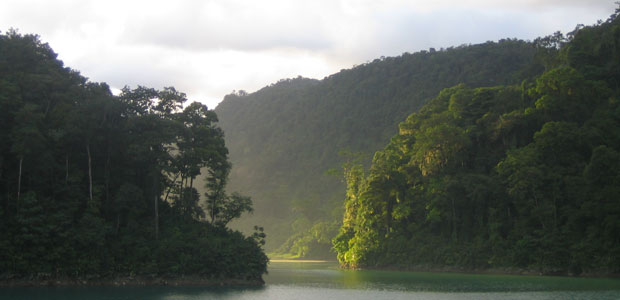 Peñas Blancas Reservoir in Costa Rica.