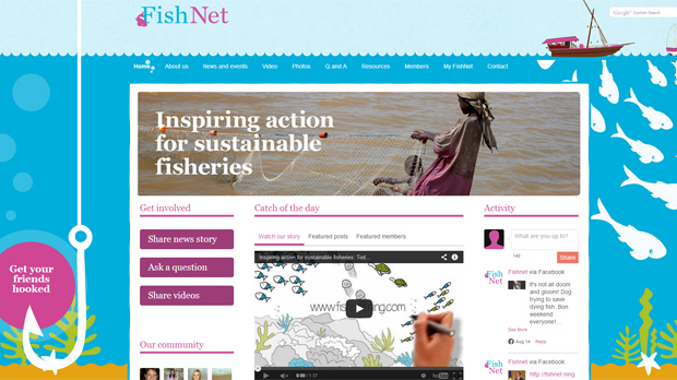 FishNet is an online community for everyone interested in sustainable fisheries
