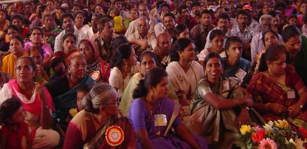 Members of Indian women's savings groups
