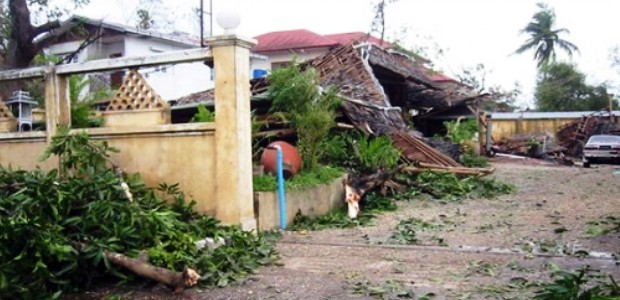 Cyclone Nargis destroyed this home in Rangoon, Myanmar in 2008