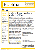Applying three dimensions of equity to REDD