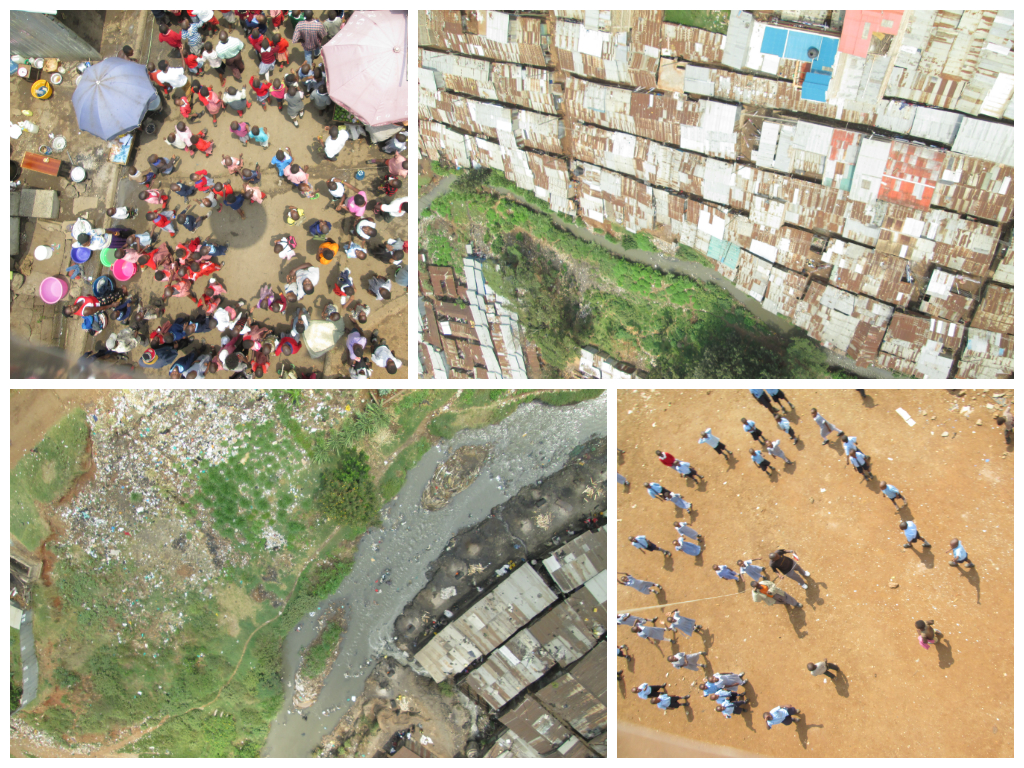 Some of the overhead images produced by the balloon mapping (Photos: Sohel Ahmed)