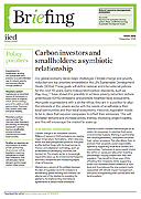 Carbon investors and smallholders: a symbiotic relationship