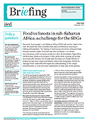 Food vs forests in sub-Saharan Africa: a challenge for the SDGs