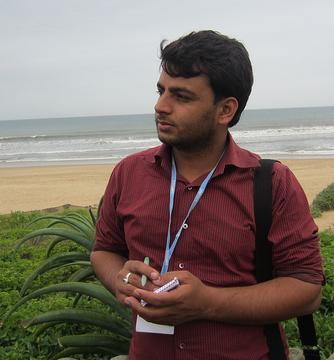 ramesh looking at the sea