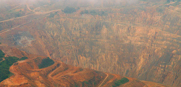 Open pit mine in Central Cebu, Philippines.