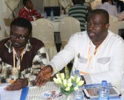 Toni Aubynn, right, is chief executive of the Minerals Commission of Ghana, the country's mining sector regulator and promoter of investment and good practice. He chairs the Learning and Leadership group which has been set up as a result of the dialogue process (Photo: Gabriela Flores)
