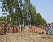 An image showing a group of women from Tongaradha village, Bangladesh, who saved more than 2,000 hectares of land and 500 households from flooding by rebuilding a 12km embankment and a 5km road. GCF money should be used for such innovative, community-driven projects in poor countries that will drive long-term change (Photo: WFP/Rein Skullerud, Creative Commons, via Flickr)