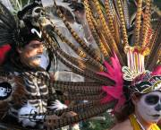 Dancing at the Dia de Los Muertos festival, which incessant rainfall spoiled in Mexico this year (Photo: Richard Cawood)