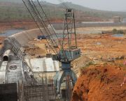 Construction of a dam and hydropower plant on the Konkouré River at Kaléta in Guinea. The new plant came on line in September 2015 (Photo: Jamie Skinner/IIED)
