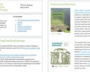 Tom Pye helped redesign the Poverty and Conservation Learning Group (PCLG) newsletter, a monthly bulletin for people working on biodiversity conservation and poverty alleviation (Image: PCLG)
