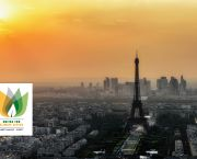 A view of the Paris skyline with the COP21 logo.(Photo: Joe deSousa, public domain, via Wikimedia Commons)