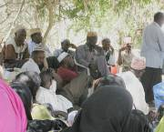 Community representatives gather together to record their knowledge about dryland resources as part of a participatory mapping process in Isiolo County, Kenya. (Photo: James Pattison/IIED)