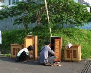 Early morning in Dogo, West Java, Indonesia: getting low-cost furniture ready for selling on the street corner (Photo: Ikhlasul Amal, Creative Commons via Flickr)