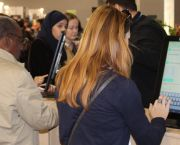 The Poken digital data device has captured the imagination of participants at COP22 in Marrakech, and reduced the necessity for tonnes of paper publications (Photo: Matt Wright/IIED)