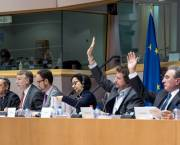 Negotiators on the Transatlantic Trade and Investment Partnership discuss the treaty in Brussels in May 2015 (Photo: European Parliament, Creative Commons, via Flickr)