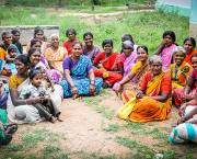 Community participation, with a strong focus on women, such as this women's savings group in Southern India, is vital to develop slum-friendly cities (Photo: Maria Andersson/Individuell Människohjälp, Creative Commons, via Flickr)