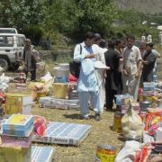 Pakistan's Sarhad Rural Support programme deals with constant uncertainty and disruptive events. Here goods are delivered to flood victims in Chitral (Photo: Gul Hamaad Farooqui, Creative Commons via Flickr)