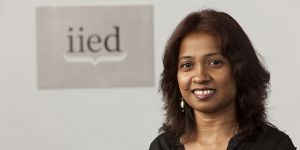 An expert on legal issues in international climate change negotiations, IIED's Achala Abeysinghe has been named one of the world's top 15 female climate champions (Photo: Mike Goldwater/IIED)