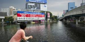 Bangkok, Thailand, is pictured during a flood in November 2011 (Photo: Nicolas Asfouri/AFP/Getty Images via Google licence)