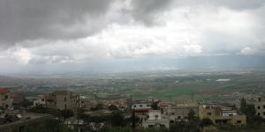 Stormclouds gather over the Bekaa Valley in Lebanon, where aid agencies provide emergency help, but long-term planning is needed to deal with wider environmental stresses (Photo: Hadi Jaafar, Diane Archer, Akram Hajj Hassan and Caroline King-Okumu/IIED)