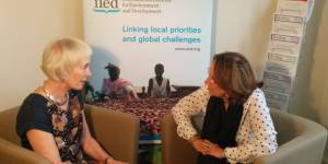 Maureen O'Neil and Rebeca Grynspan, the incoming and outgoing chair of IIED's board of trustees, discuss the institute's key challenges and successes over the last six years (Photo: Matt Wright/IIED)