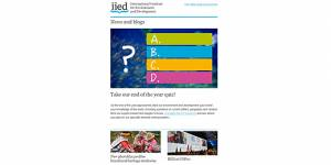 IIED's December newsletter is out now