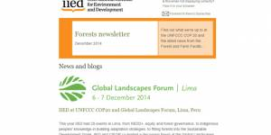 The sixth Forestry email newsletter was issued by IIED this week
