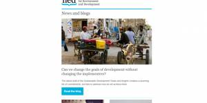 IIED's July 2014 newsletter is out now
