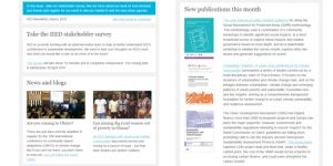 The IIED newsletter for March (Image: IIED)