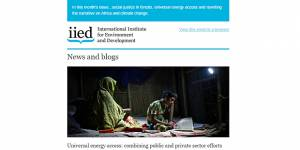 IIED's September 2014 newsletter is out now