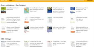 IIED's improved Publications Library allows better access to the institute's 6,700-plus publications from mobile phones and the global South (Image: IIED/Jon Knox)