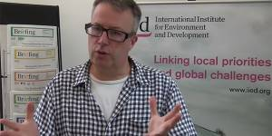 Strategy and Learning Group director Tom Bigg gives an overview of the SDGs (Image: IIED)