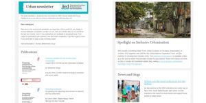 IIED's first urban newsletter issued in March 2016 (Image: IIED)