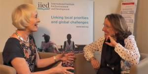 Maureen O'Neil and Rebeca Grynspan, the incoming and outgoing chair of IIED's board of trustees, discuss good governance at the institute (Photo: Matt Wright/IIED)