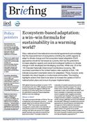 Ecosystem-based adaptation: a win–win formula for sustainability in a warming world?