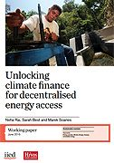 Unlocking climate finance for decentralised energy access