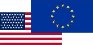 The European Union (EU) and United States flags (Photo: Google licence)