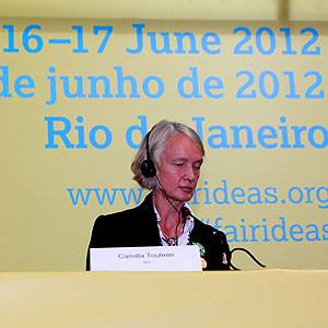Toulmin at Fair Ideas event in Brazil in 2012 (Photo: Tom Broadhurst/IIED)