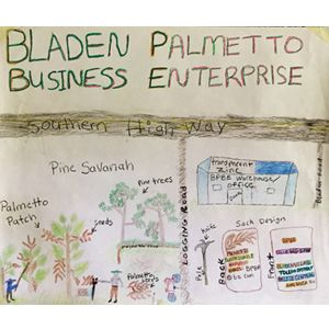 The business plan of the Bladen Palmetto Business Enterprise (Photo: Duncan Macqueen/IIED)