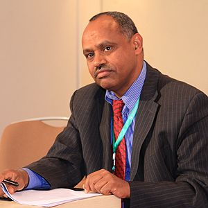 Negash Teklu is executive director of Population, Health Environment Ethiopia (Photo: Andualem Sisay)