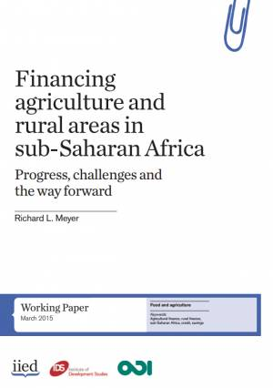 Financing agriculture and rural areas in Sub-Saharan Africa: progress, challenges and the way forward, by Richard Meyer