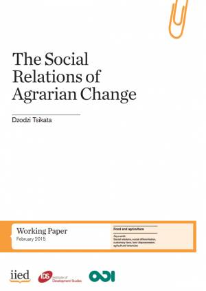 The social relations of agrarian change, by Dzodzi Tsikata
